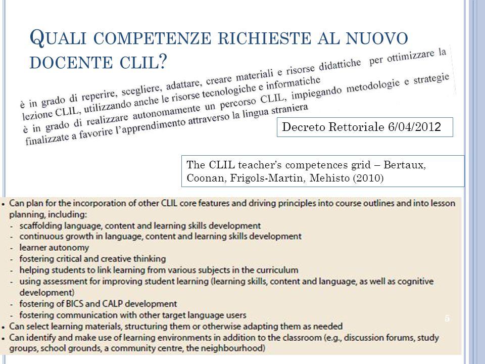 Quali competenze richieste al nuovo docente clil