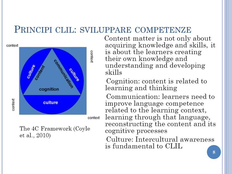 Principi clil: sviluppare competenze