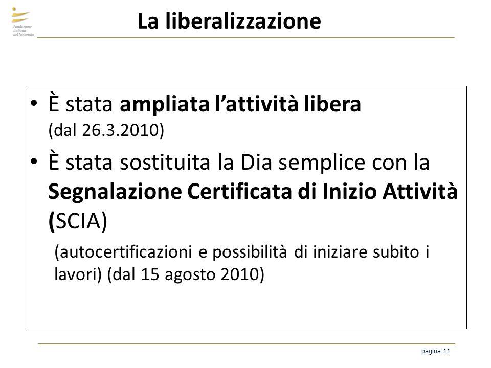 È stata ampliata l'attività libera (dal 26.3.2010)