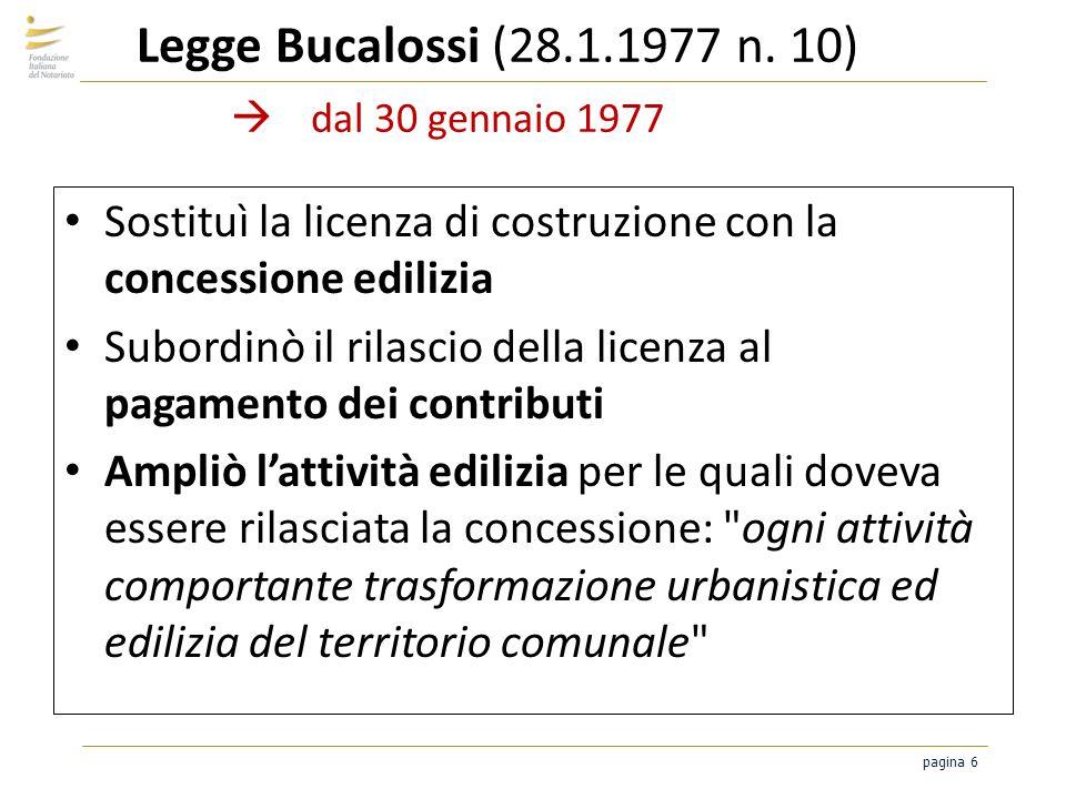 Legge Bucalossi (28.1.1977 n. 10)  dal 30 gennaio 1977