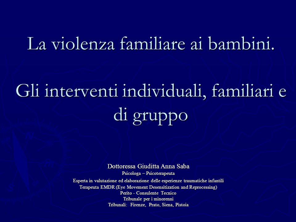 La violenza familiare ai bambini