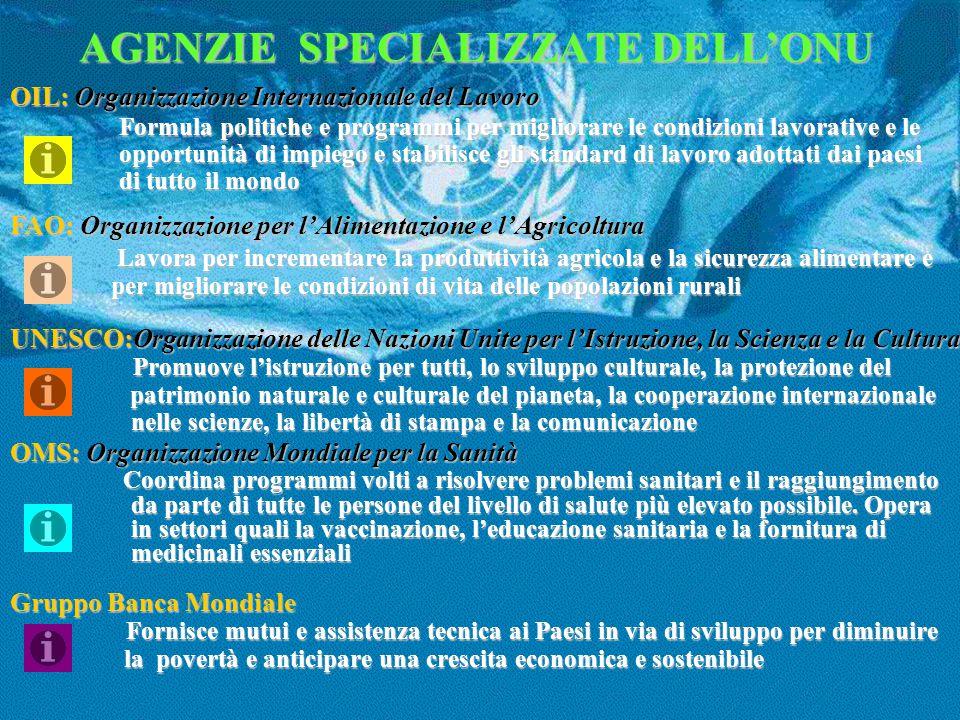 AGENZIE SPECIALIZZATE DELL'ONU
