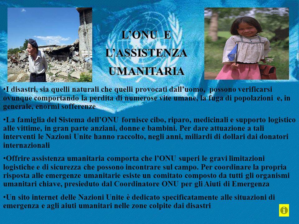 L'ONU E L'ASSISTENZA UMANITARIA