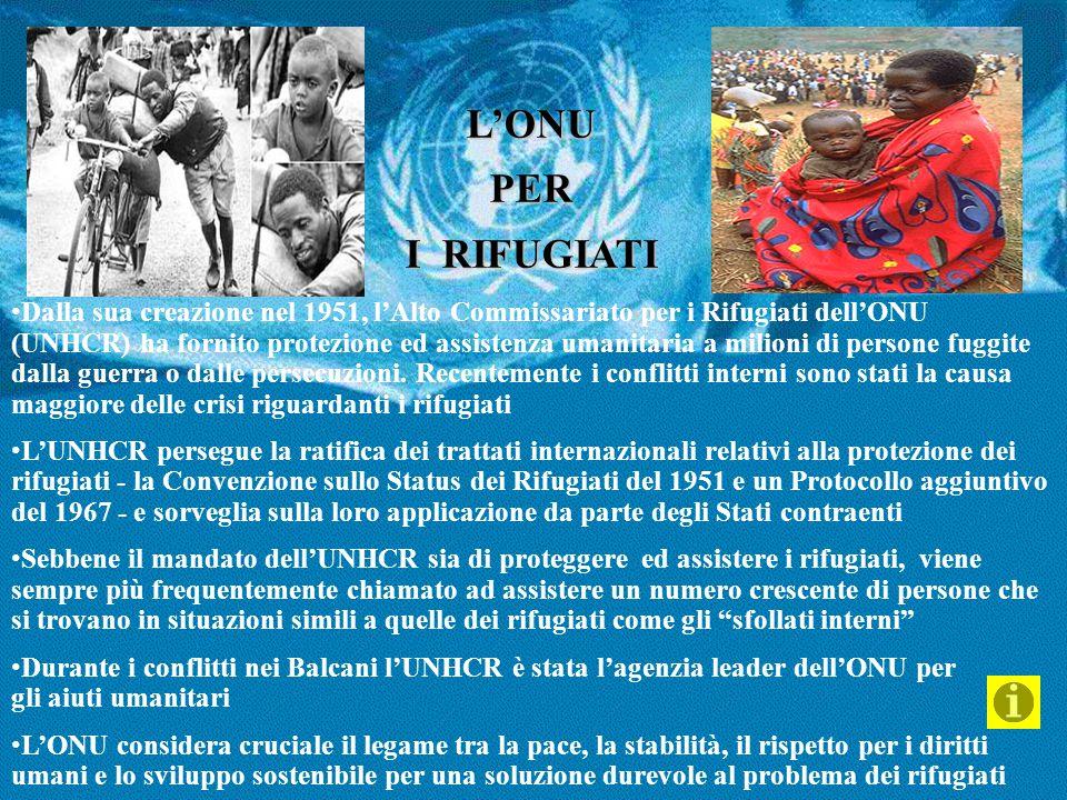 L'ONU PER. I RIFUGIATI.