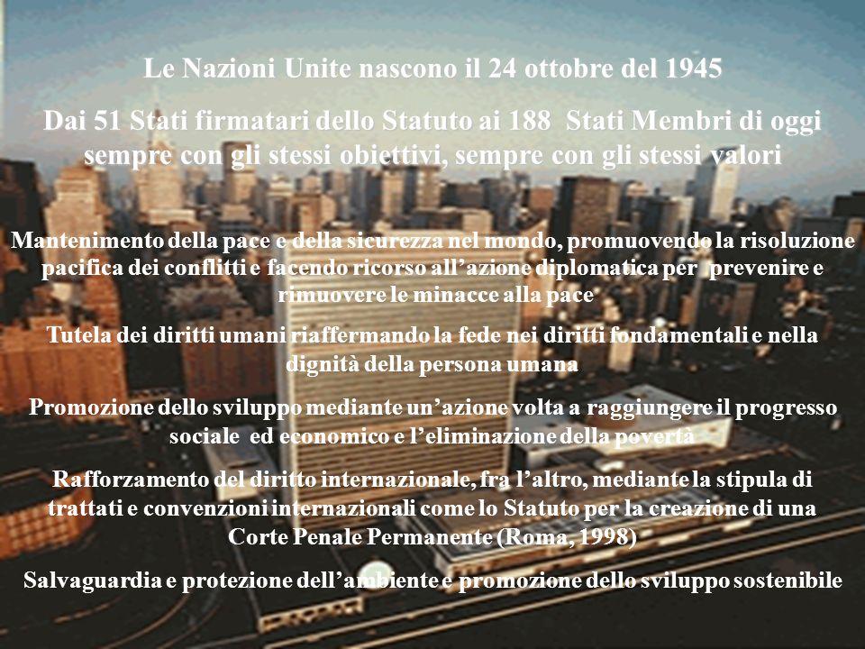 Le Nazioni Unite nascono il 24 ottobre del 1945