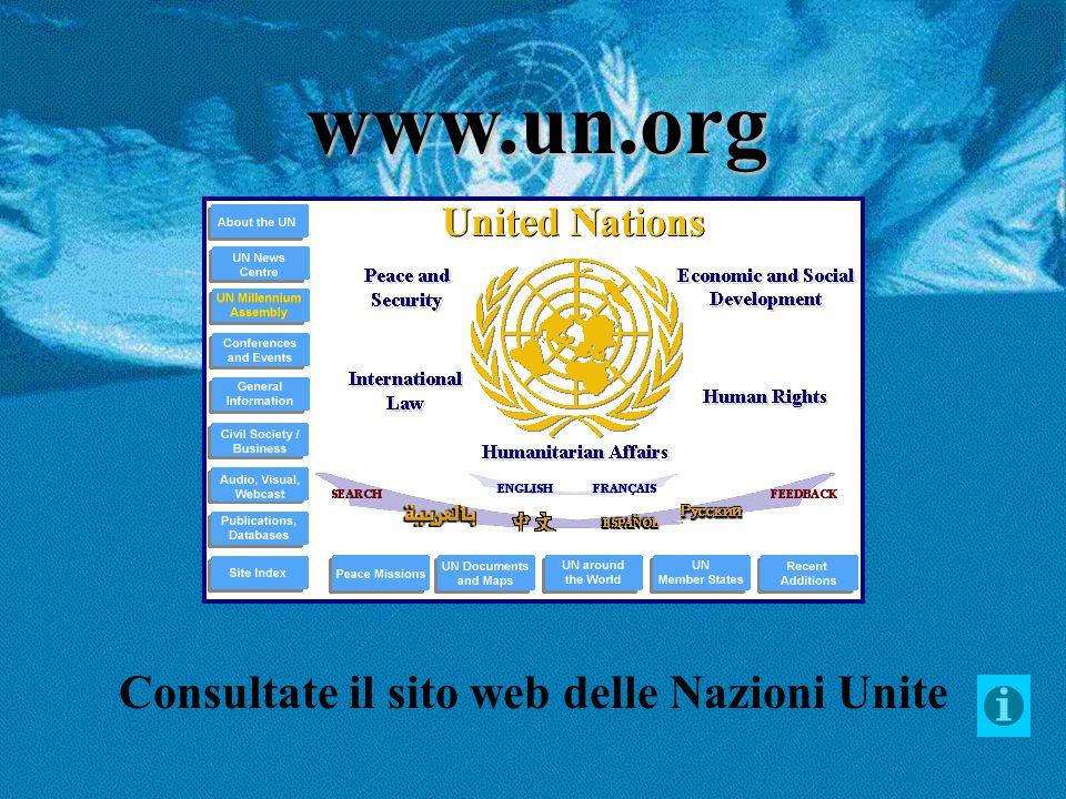 Consultate il sito web delle Nazioni Unite