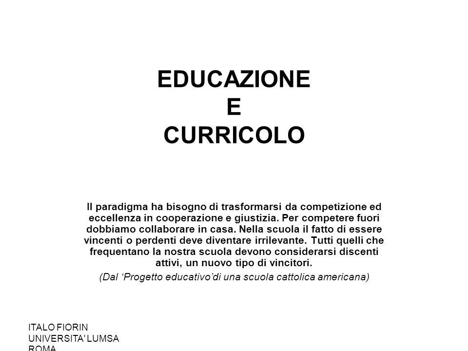 EDUCAZIONE E CURRICOLO
