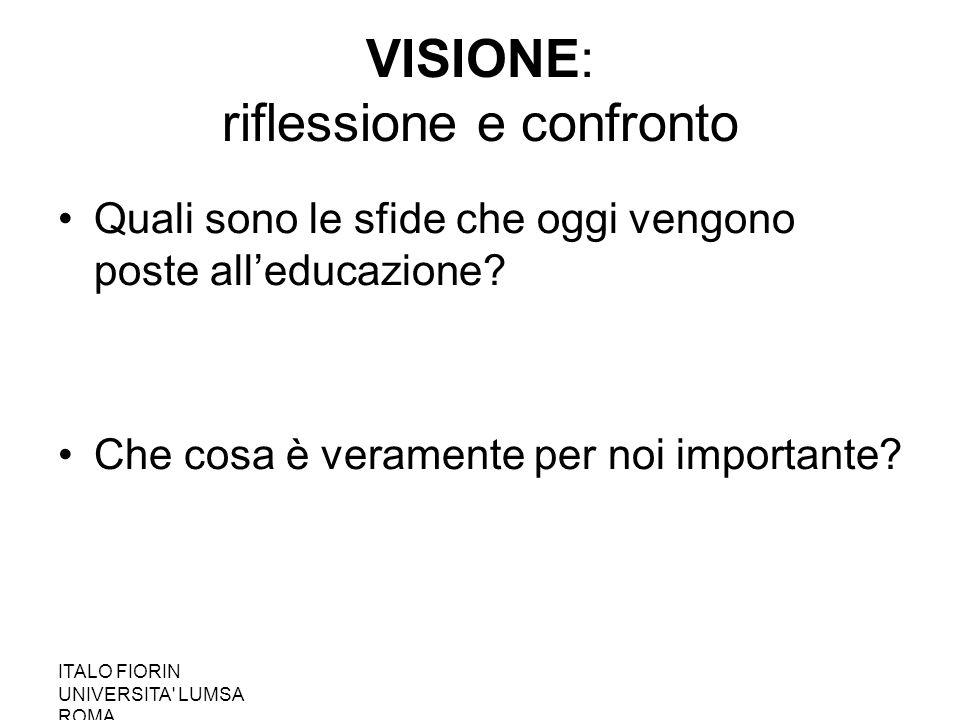 VISIONE: riflessione e confronto