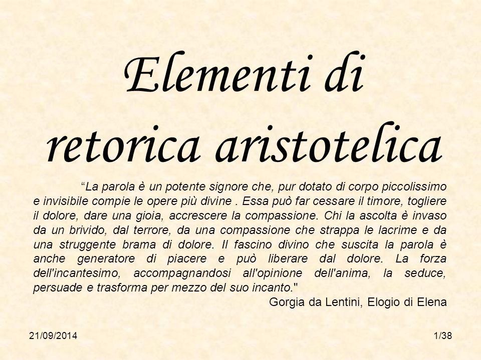 Elementi di retorica aristotelica