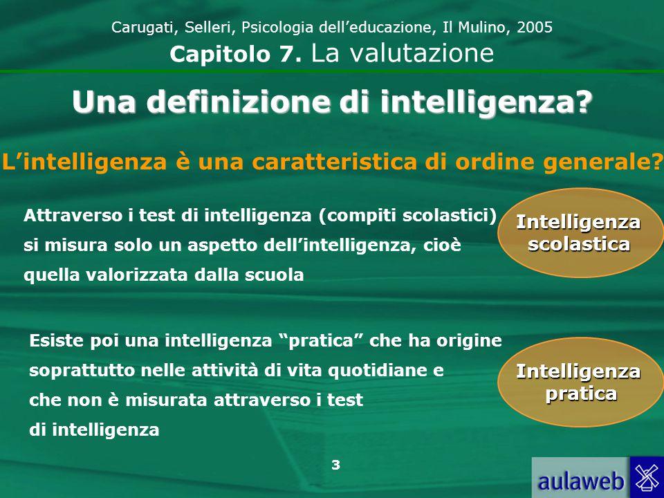 Una definizione di intelligenza