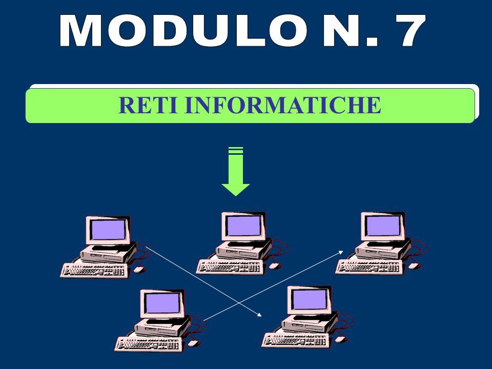 MODULO N. 7 RETI INFORMATICHE