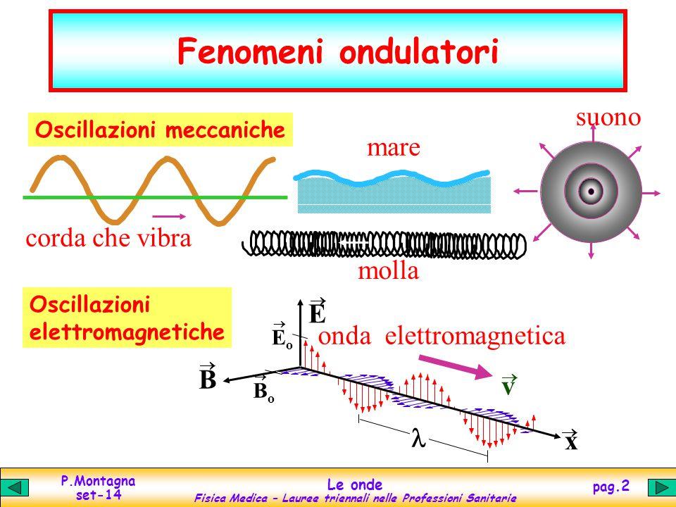 Fenomeni ondulatori suono mare corda che vibra molla E