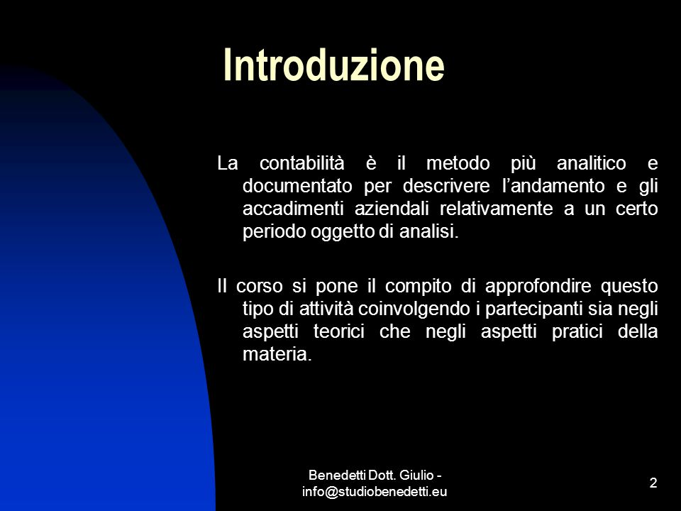 Benedetti Dott. Giulio - info@studiobenedetti.eu