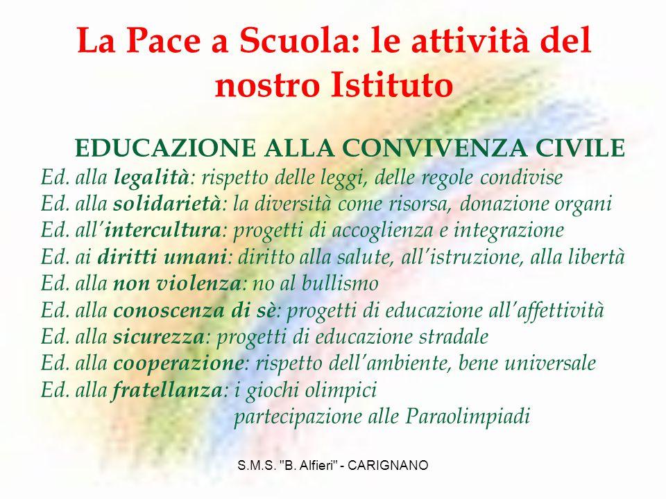 La Pace a Scuola: le attività del nostro Istituto