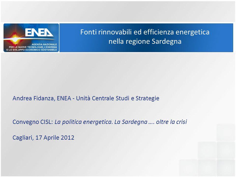 Fonti rinnovabili ed efficienza energetica nella regione Sardegna