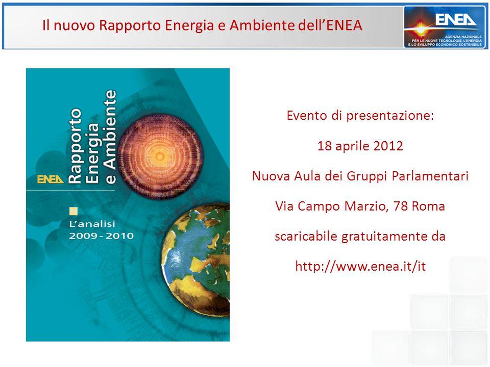 Il nuovo Rapporto Energia e Ambiente dell'ENEA