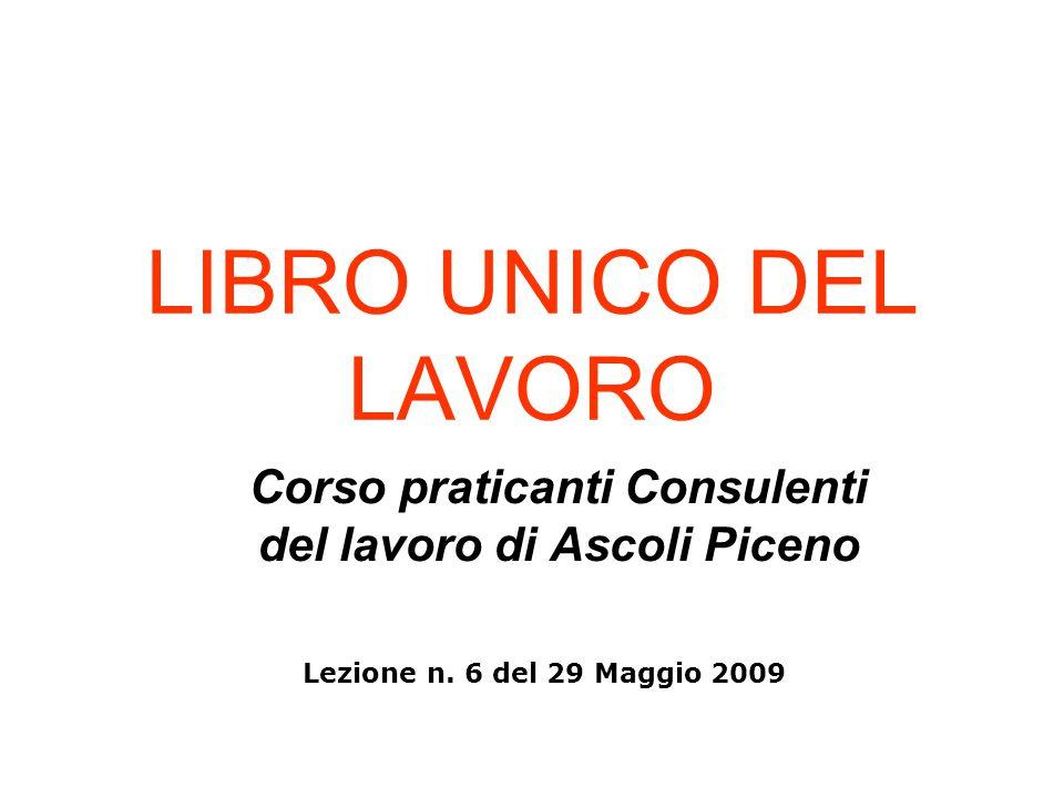 Corso praticanti Consulenti del lavoro di Ascoli Piceno