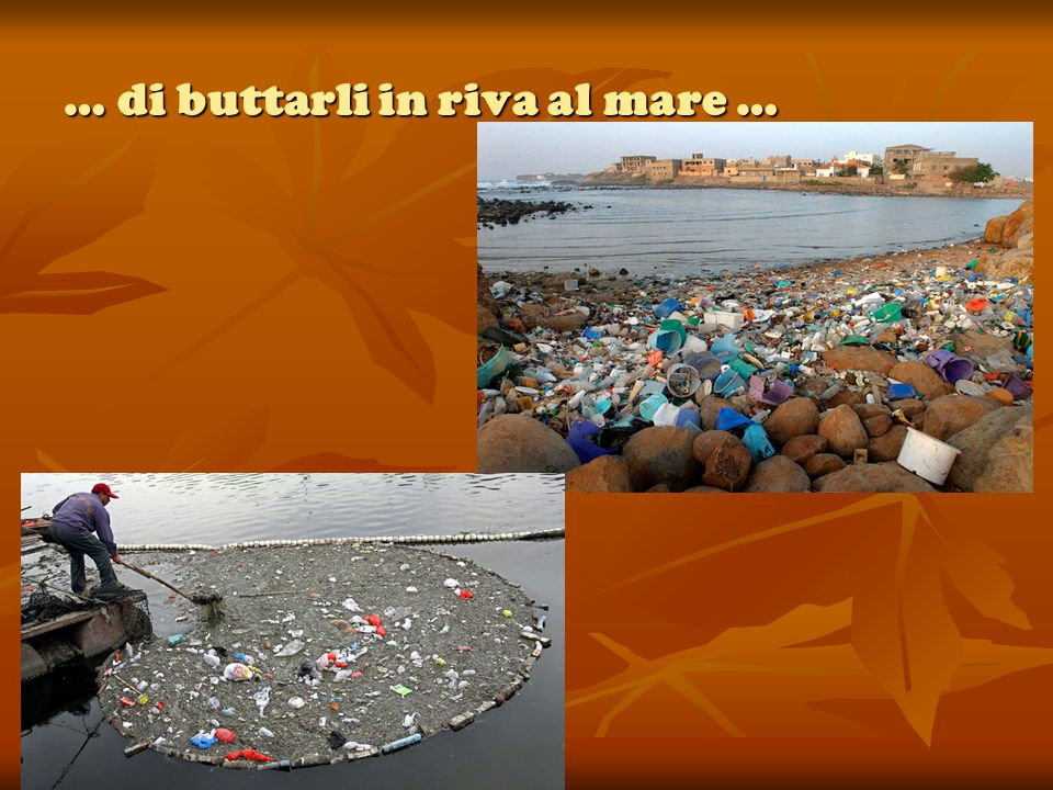 … di buttarli in riva al mare …