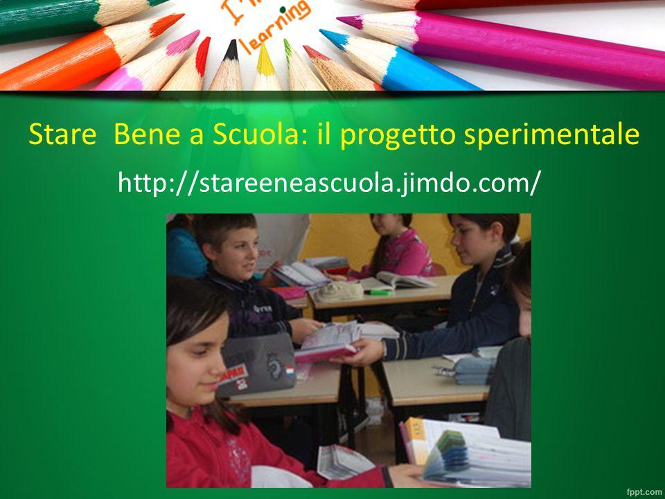 Stare Bene a Scuola: il progetto sperimentale