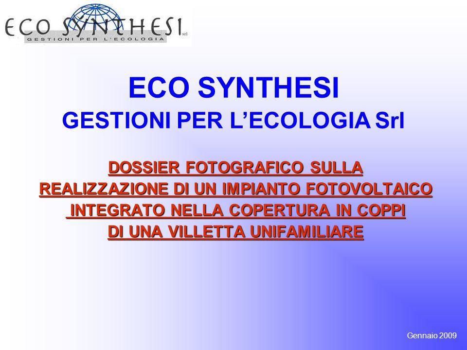ECO SYNTHESI GESTIONI PER L'ECOLOGIA Srl DOSSIER FOTOGRAFICO SULLA