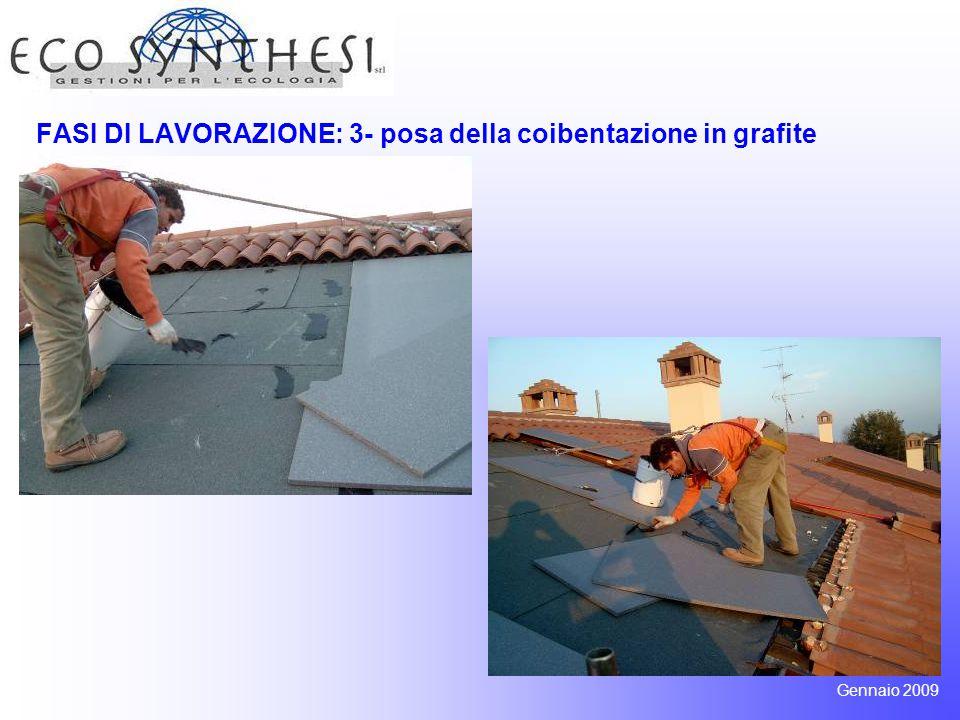 FASI DI LAVORAZIONE: 3- posa della coibentazione in grafite