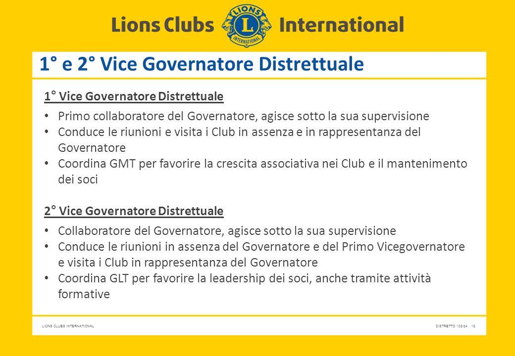 1° e 2° Vice Governatore Distrettuale