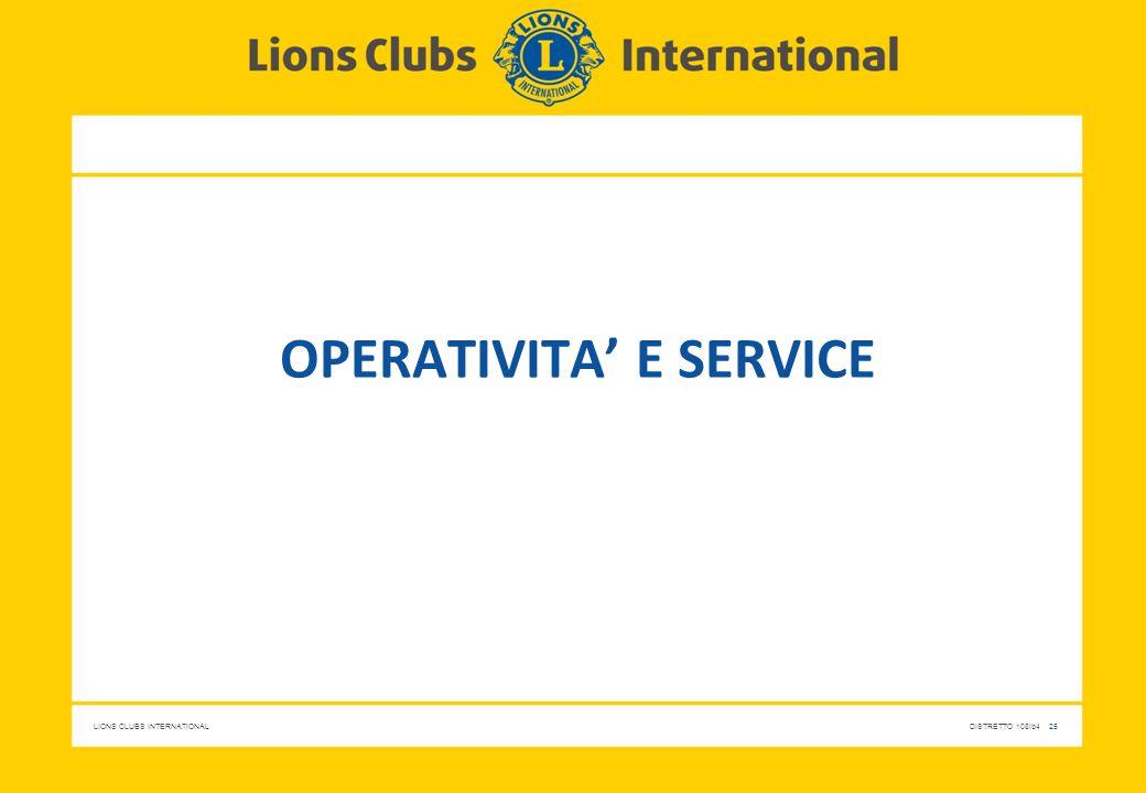 Operativita' e service