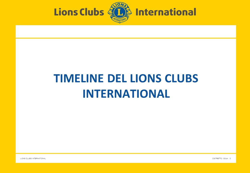 Timeline del lions clubs international