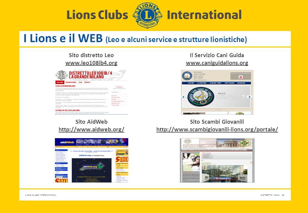 I Lions e il WEB (Leo e alcuni service e strutture lionistiche)