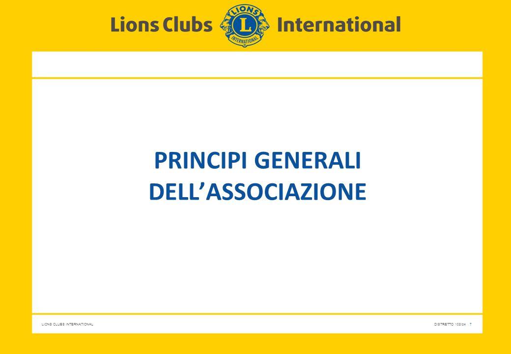 Principi generali dell'associazione