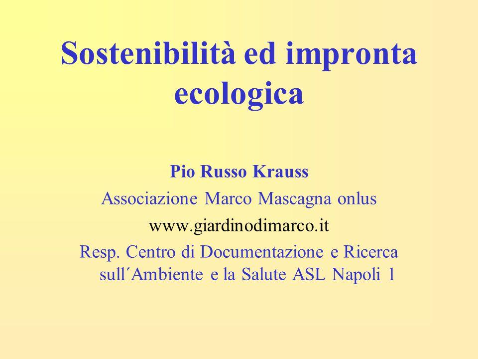 Sostenibilità ed impronta ecologica