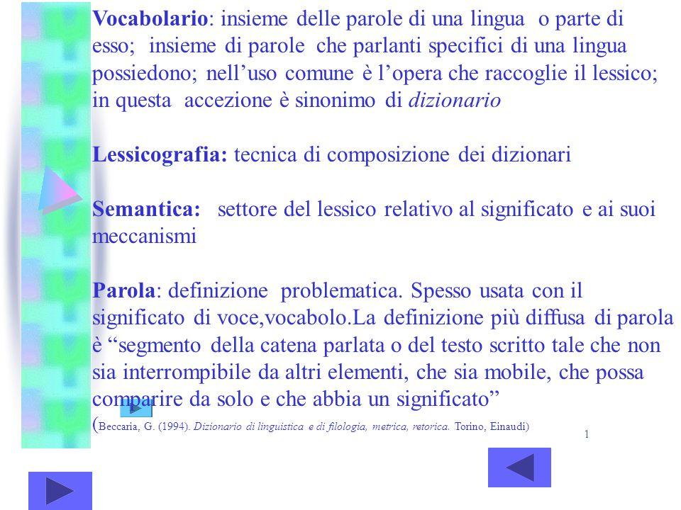 Lessicografia: tecnica di composizione dei dizionari