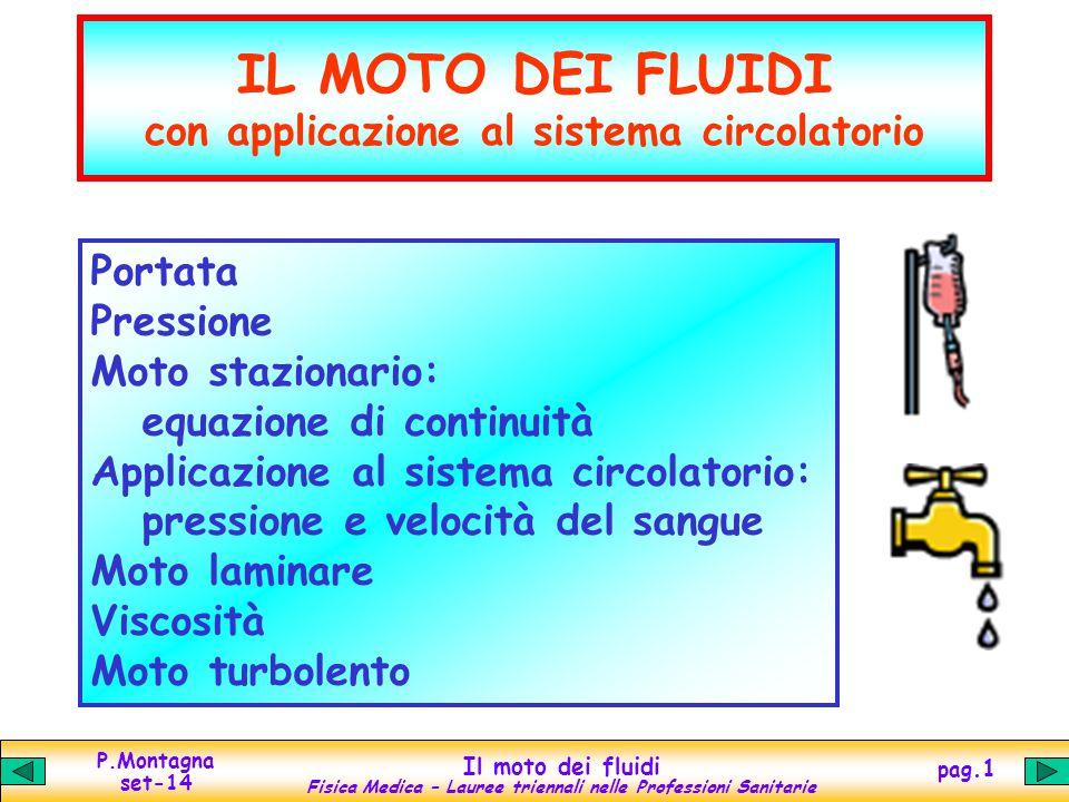 IL MOTO DEI FLUIDI con applicazione al sistema circolatorio
