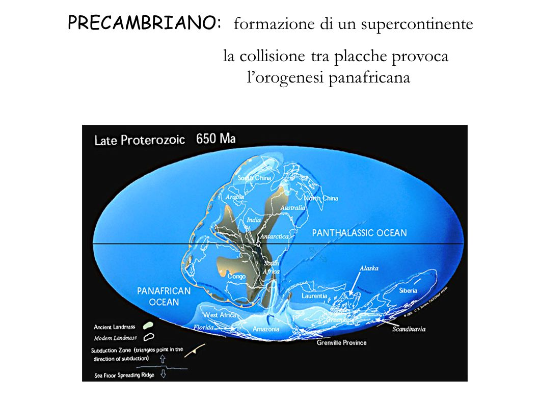 PRECAMBRIANO: formazione di un supercontinente
