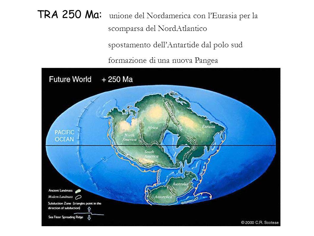 TRA 250 Ma: unione del Nordamerica con l'Eurasia per la scomparsa del NordAtlantico