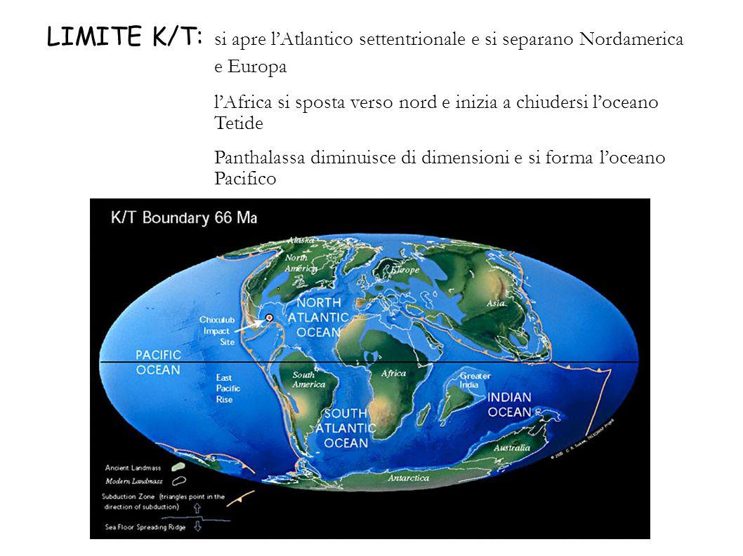 LIMITE K/T: si apre l'Atlantico settentrionale e si separano Nordamerica e Europa