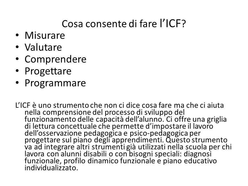 Cosa consente di fare l'ICF