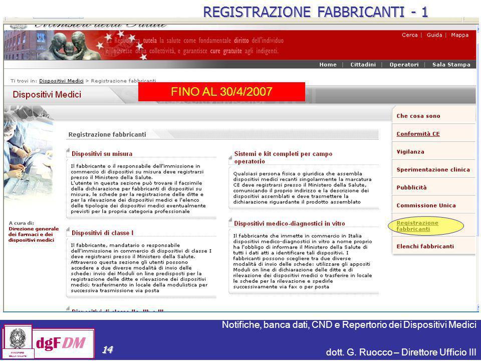 REGISTRAZIONE FABBRICANTI - 1