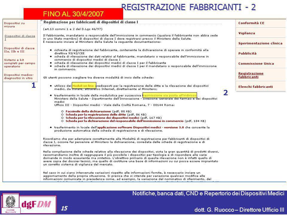 REGISTRAZIONE FABBRICANTI - 2