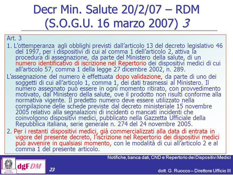Decr Min. Salute 20/2/07 – RDM (S.O.G.U. 16 marzo 2007) 3