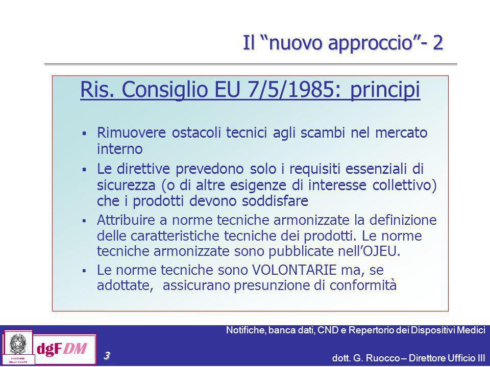 Ris. Consiglio EU 7/5/1985: principi