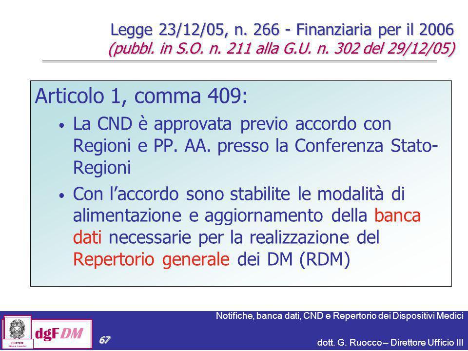 Legge 23/12/05, n. 266 - Finanziaria per il 2006 (pubbl. in S. O. n