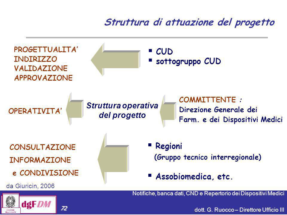 Struttura di attuazione del progetto