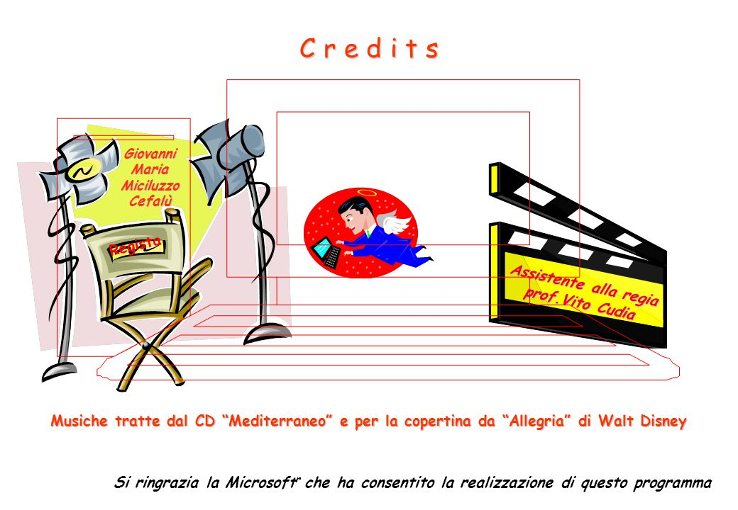 C r e d i t s Regista Assistente alla regia prof.Vito Cudia