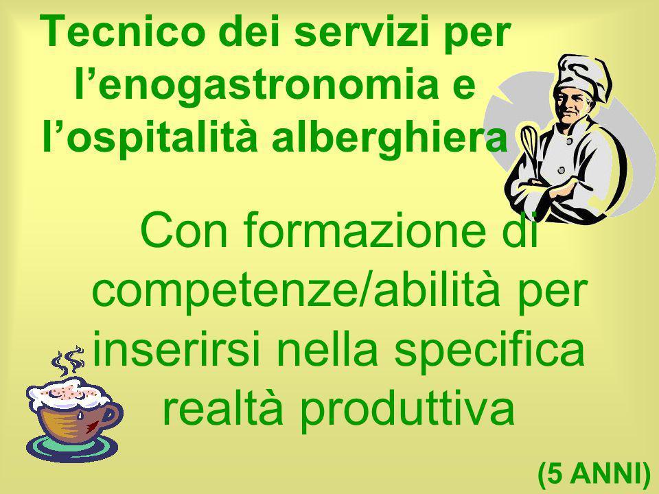 Tecnico dei servizi per l'enogastronomia e l'ospitalità alberghiera