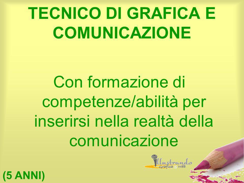 TECNICO DI GRAFICA E COMUNICAZIONE