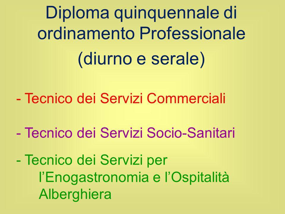 Diploma quinquennale di ordinamento Professionale