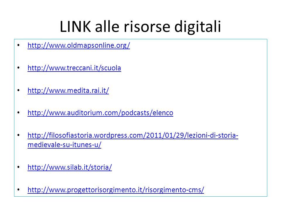 LINK alle risorse digitali