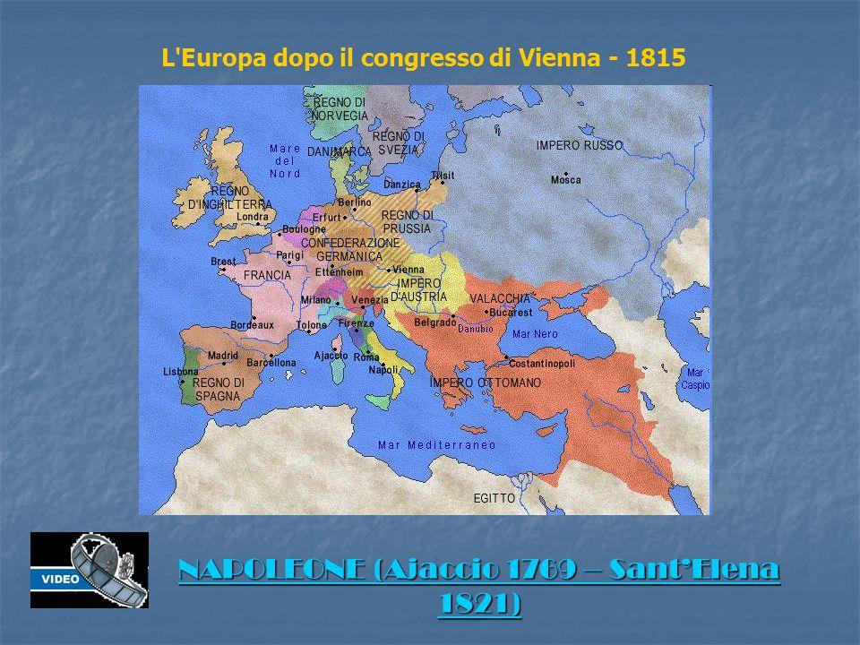 L Europa dopo il congresso di Vienna - 1815