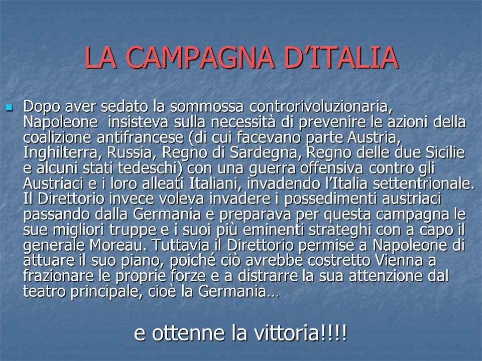 LA CAMPAGNA D'ITALIA e ottenne la vittoria!!!!